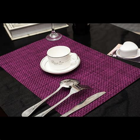 Dining Table Placemat Pvc Insulation Bowl Tableware Placemat Place Mat Coaster