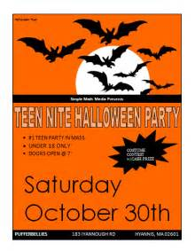 free halloween flyers microsoft word templates