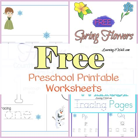 free printable preschool learning worksheets free preschool printable worksheets
