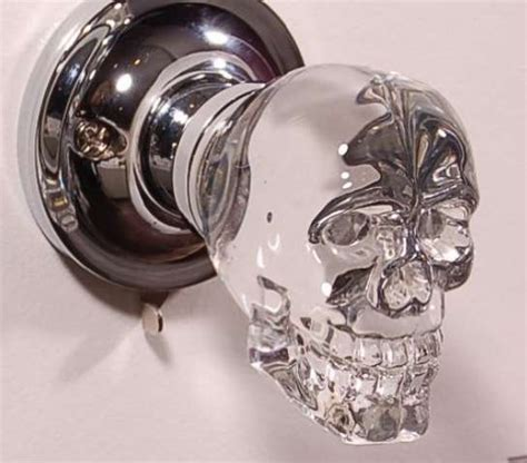 Skull Door Knob by Spooky Skeletal Doorknobs Led Skull