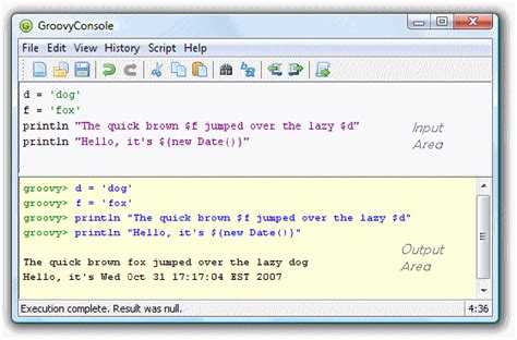 java swing console the apache groovy programming language groovyconsole