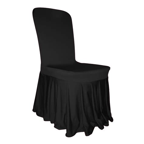 pleated skirt chair cover lycra spandex flat front wedding