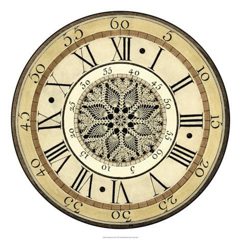 printable antique clock face designs vintage lace clock giclee print at allposters com