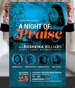 praise concert flyer and poster template by godserv on