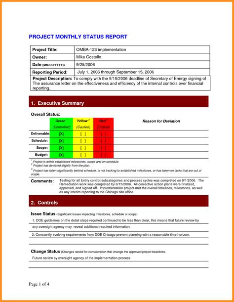 it management report template monthly it report template for management and 7 monthly