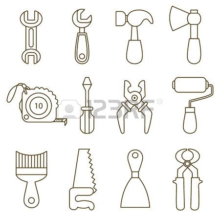 imagenes infantiles herramientas herramientas carpintero para colorear imagui