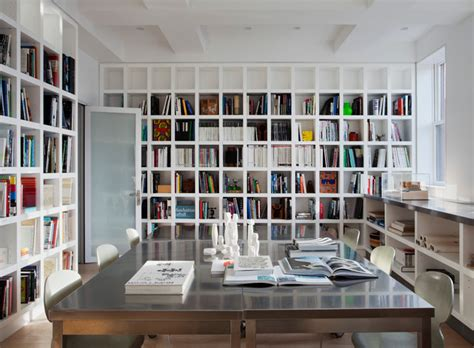 home office design books study modern home office new york by space kit