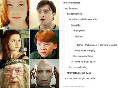 hp characters with the correct eye color harry potter