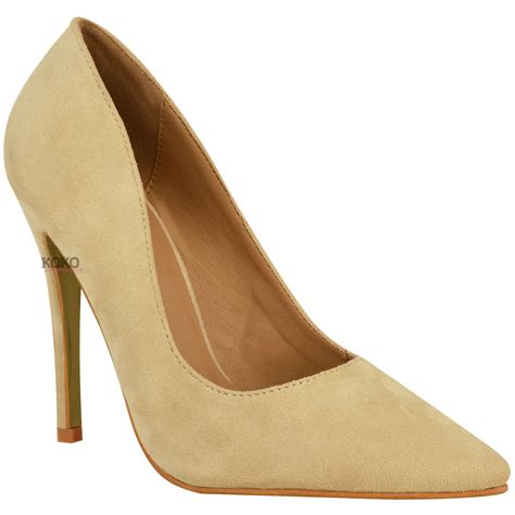 High Heels M2m 3 new womens pointed high heel smart work court shoes pumps size 3 8 ebay