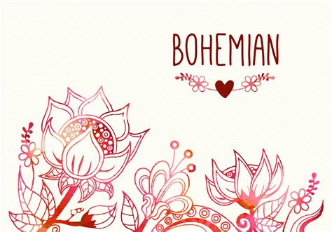 free clipart vector free bohemian flourish vector illustration free