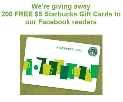 Starbucks 50 Dollar Gift Card Giveaway - win 1 of 200 5 starbucks gift cards from ugiftideas who said nothing in life is free