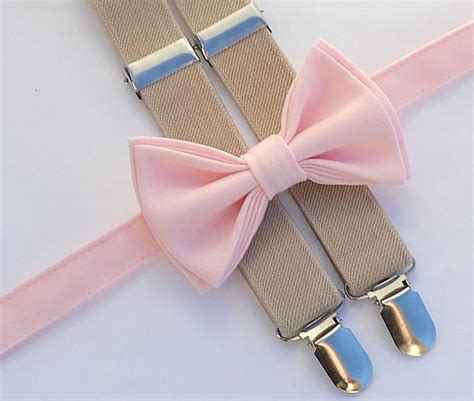 light up bow tie and suspenders light pink bow tie beige suspenders shop more styles