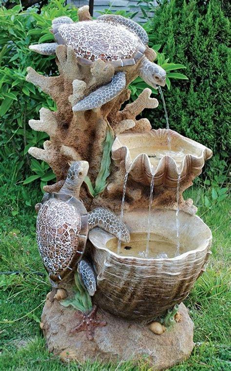 Turtle Garden Decor Turtle Cove Cascading Sculptural Fresh Garden Decor