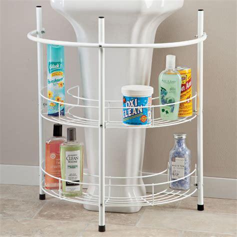 Pedestal Sink Bathroom Ideas 13 pedestal sink storage organizer homeideasblog com