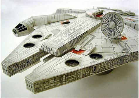 guerra de las galaxias manualidades de papel el halc 243 n milenario de star wars en papel y listo para