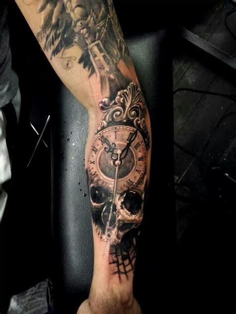 tattoo 3d usb skull clock tattoo tattoos i like pinterest clock