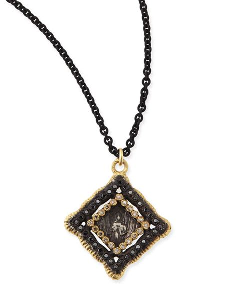 armenta midnight yellow gold coin pendant necklace
