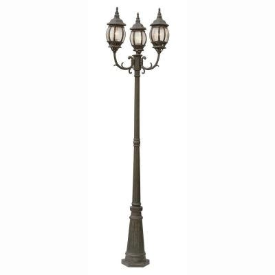 Bel Air Lighting 3 Light Outdoor Post Bel Air Lighting Filigree 3 Light Rust Outdoor L Post With Clear Glass 4090 Rt The Home Depot