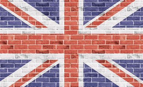 Union Jack Wall Mural brick wall union jack wall paper mural buy at europosters