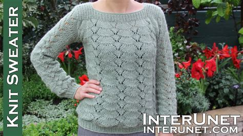Knitting Patterns For Sweater Youtube | long sleeve lace sweater knitting pattern youtube