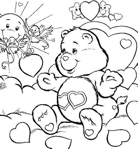 cheerbear coloring pages pinterest