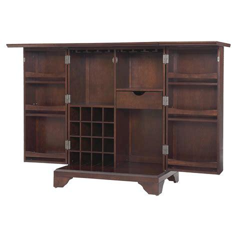 Vintage Bar Cabinet Lafayette Expandable Bar Cabinet Vintage Mahogany Dcg Stores