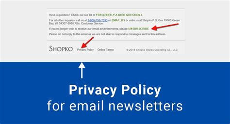 privacy policy for email newsletters termsfeed