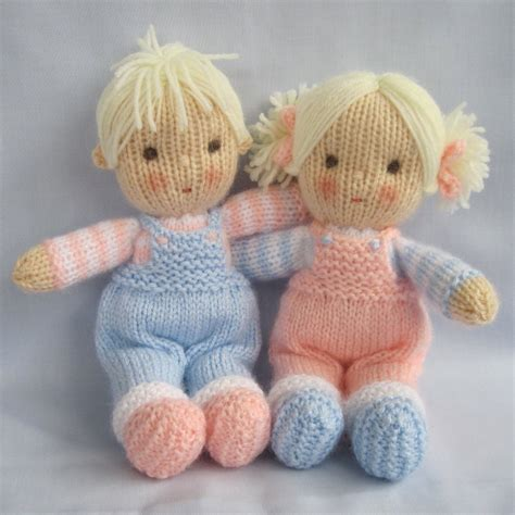 pattern knitting doll jack and jill doll knitting pattern pdf instant download