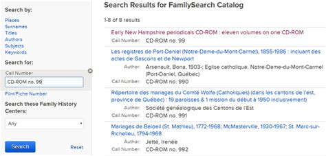 Call Number Lookup Familysearch Catalog Call Number Search Genealogy Familysearch Wiki