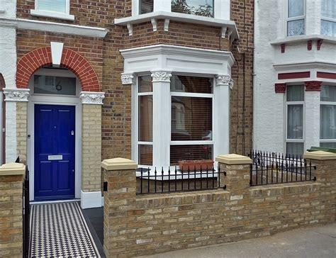 garden wall tiles classic front garden wall tiles metal rails