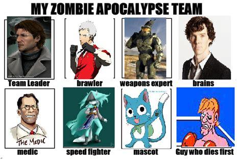 Zombie Apocalypse Team Meme - glass joe pokemon images pokemon images