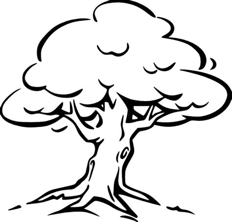tree clipart black and white tree of clip black and white www imgkid