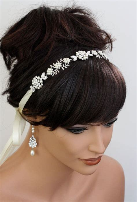 wedding hair ribbon headband