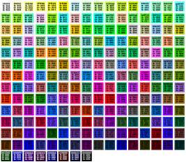 rgb color list browser safe palette