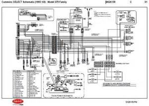1995 5 peterbilt 379 357 375 377 378 cummins n14 celect wiring diagram schematic ebay