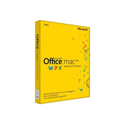 bureau pour mac acheter office 2011 famille et etudiant pour mac 224 prix promo