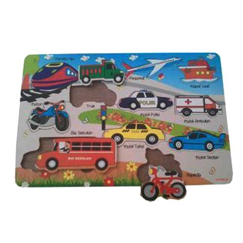Limited Stock Mainan Edukatif Edukasi Anak Puzzle Stiker Kayu Knop mainan kayu edukatif puzzle transportasi kayu seru