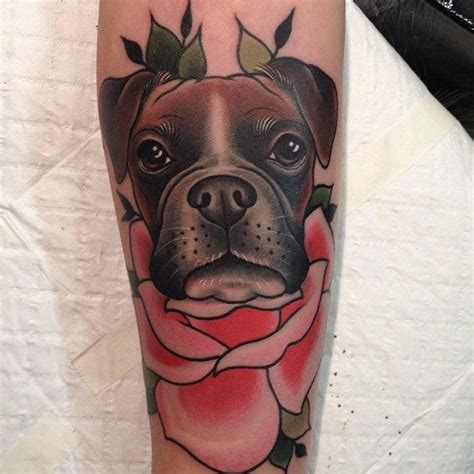 boxer dog tattoo designs best 25 boxer ideas on traditional