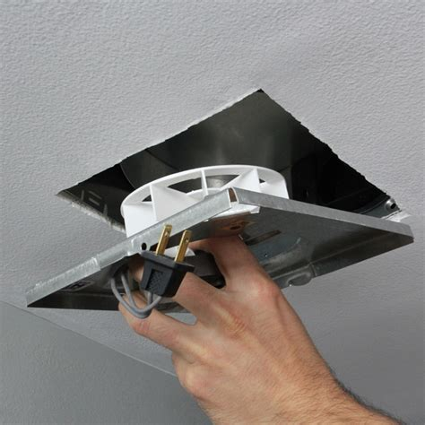 how to replace a bathroom fan without attic access install a bathroom exhaust fan