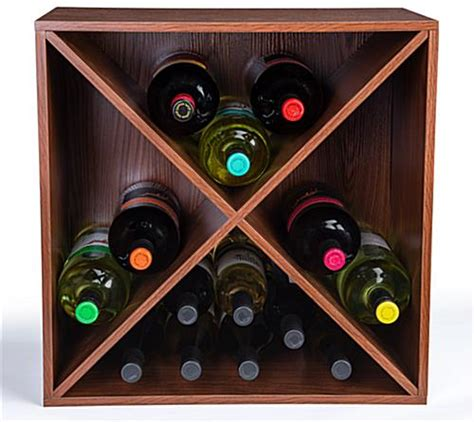 wine rack storage cube stackable design