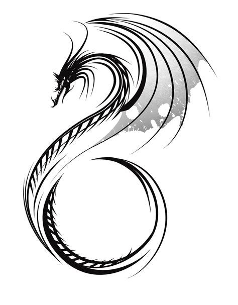 tribal dragon tattoos pictures free design