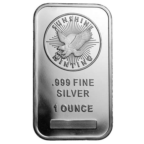 1 Troy Ounce Silver Bar - buy 1 oz silver bullion bars silver