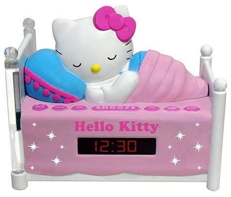 Up To Hello Kittys Smiling On Your Radio Alarm Clock by Hello Radio Alarm Clock With Light