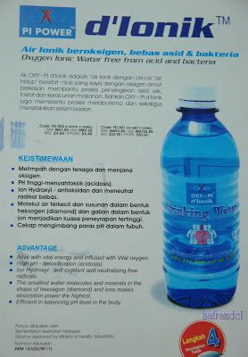 Air Oxy Oxy Water Oxygen Berkualitas dcl air oxy pi d ionik