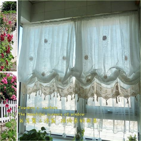 balloon curtains for living room pastoral style adjustable balloon curtain living room
