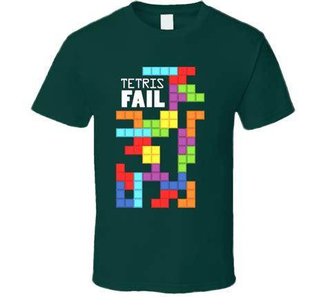 T Shirt Tshirt Kaos Tetris Clasic tetris fail t shirt shirts gamer wear