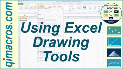 how to make doodle using excel using drawing tools in excel 2007 2010 and 2013
