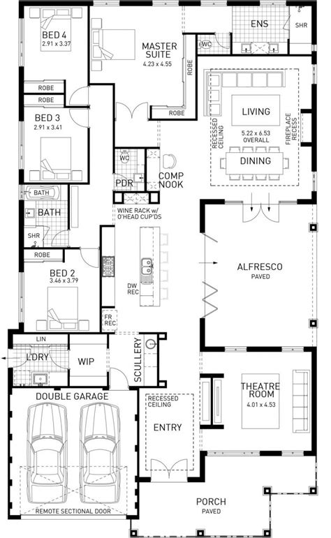 metricon floor plans single storey the north hton four bed single storey home design