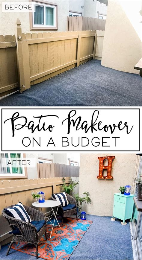 patio makeover on a budget happily howards