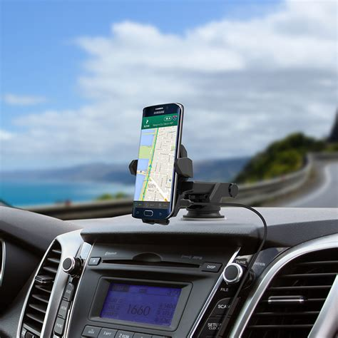 car mounted iottie easy one touch qi wireless charging smartphone mount